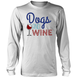 Dogs and Wine Dachshund Long Sleeve Tee