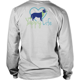 Dogs and Wine Border Collie Long Sleeve Tee