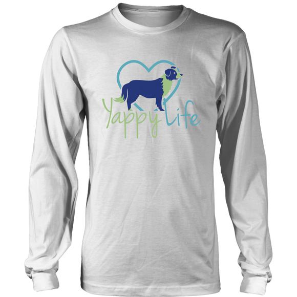 Yappy Life Border Collie Long Sleeve Tee