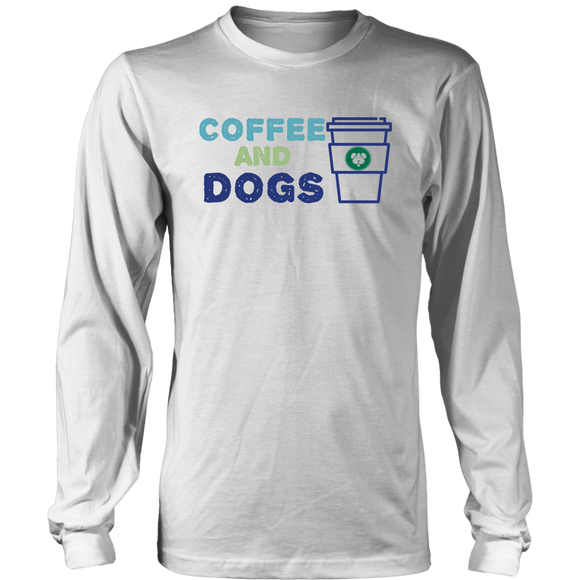 Coffee and Dogs Golden Retriever Long Sleeve Tee