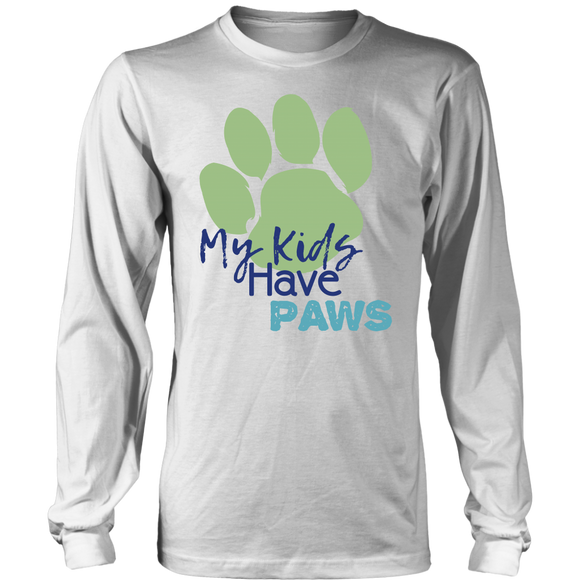 My Kids Have Paws Pitbull Long Sleeve Tee