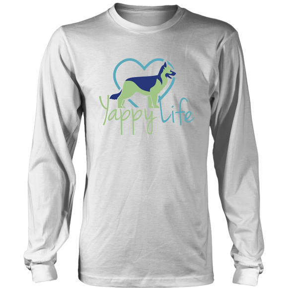 Yappy Life German Shepherd Long Sleeve Tee