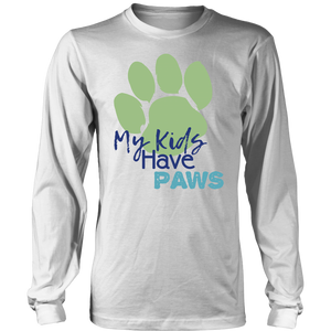 My Kids Have Paws Bulldog Long Sleeve Tee