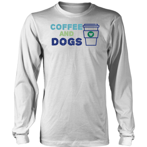 Coffee and Dogs Border Collie Long Sleeve Tee
