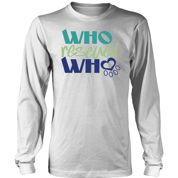 Who Rescued Who Golden Retriever Long Sleeve Tee