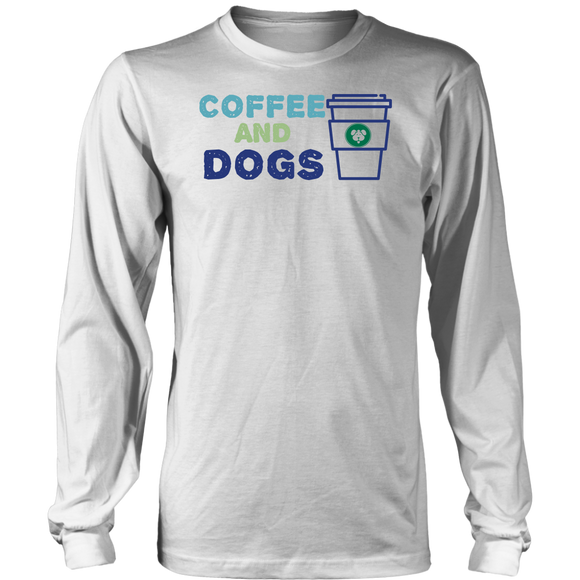 Coffee and Dogs German Shepherd Long Sleeve Tee