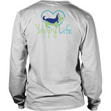 Dogs and Wine Yorkie Long Sleeve Tee