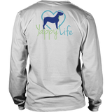 Coffee and Dogs Pitbull Long Sleeve Tee