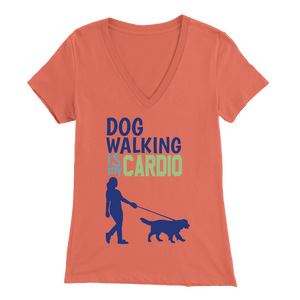 Dog Walking is My Cardio Beagle V-Neck
