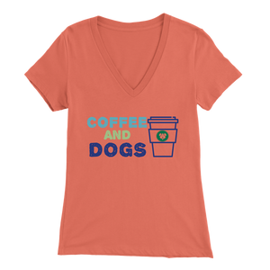 Coffee and Dogs Rottweiler V-Neck