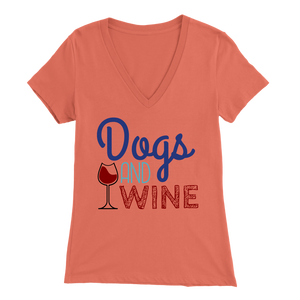 Dogs and Wine Pitbull V-Neck