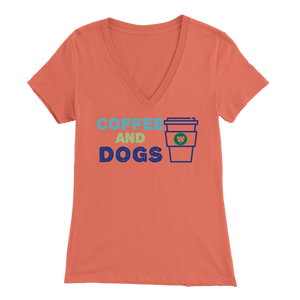 Coffee and Dogs Dachshund V-Neck