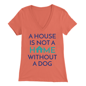 A House Is Not a Home Without a Dog Golden Retriever V-Neck