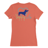 Dogs and Wine Dachshund V-Neck