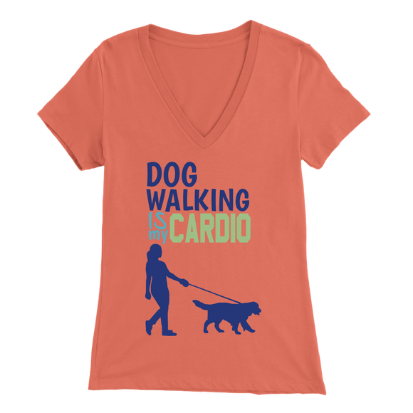 Dog Walking is My Cardio Pitbull V-Neck