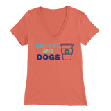 Coffee and Dogs Aussie V-Neck