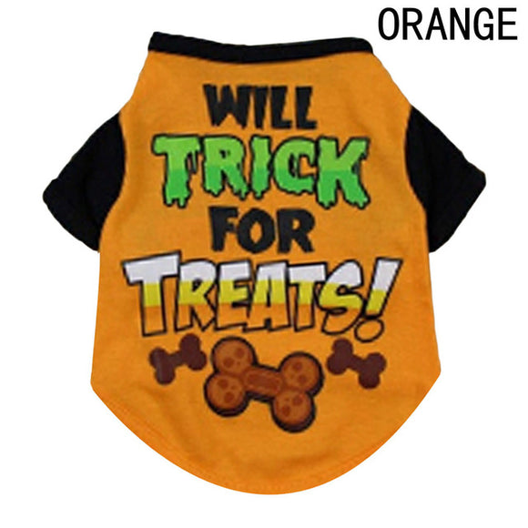 Will Trick for Treats Dog Halloween T-Shirt