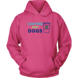 Coffee and Dogs Bulldog Hoodie
