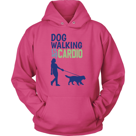 Dog Walking is My Cardio Pitbull Hoodie