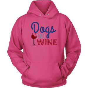 Dogs and Wine Pitbull Hoodie