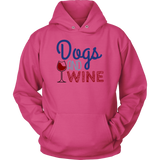 Dogs and Wine Bulldog Hoodie