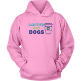 Coffee and Dogs Pitbull Hoodie