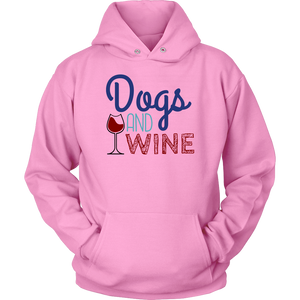 Dogs and Wine Yorkie Hoodie