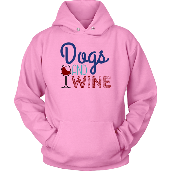 Dogs and Wine Border Collie Hoodie
