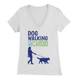 Dog Walking is My Cardio German Shepherd V-Neck