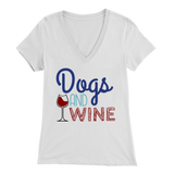 Dogs and Wine Yorkie V-Neck