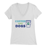 Coffee and Dogs Yorkie V-Neck
