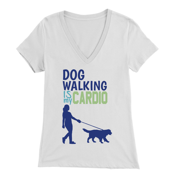Dog Walking is My Cardio Labradoodle V-Neck