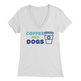 Coffee and Dogs V-Neck