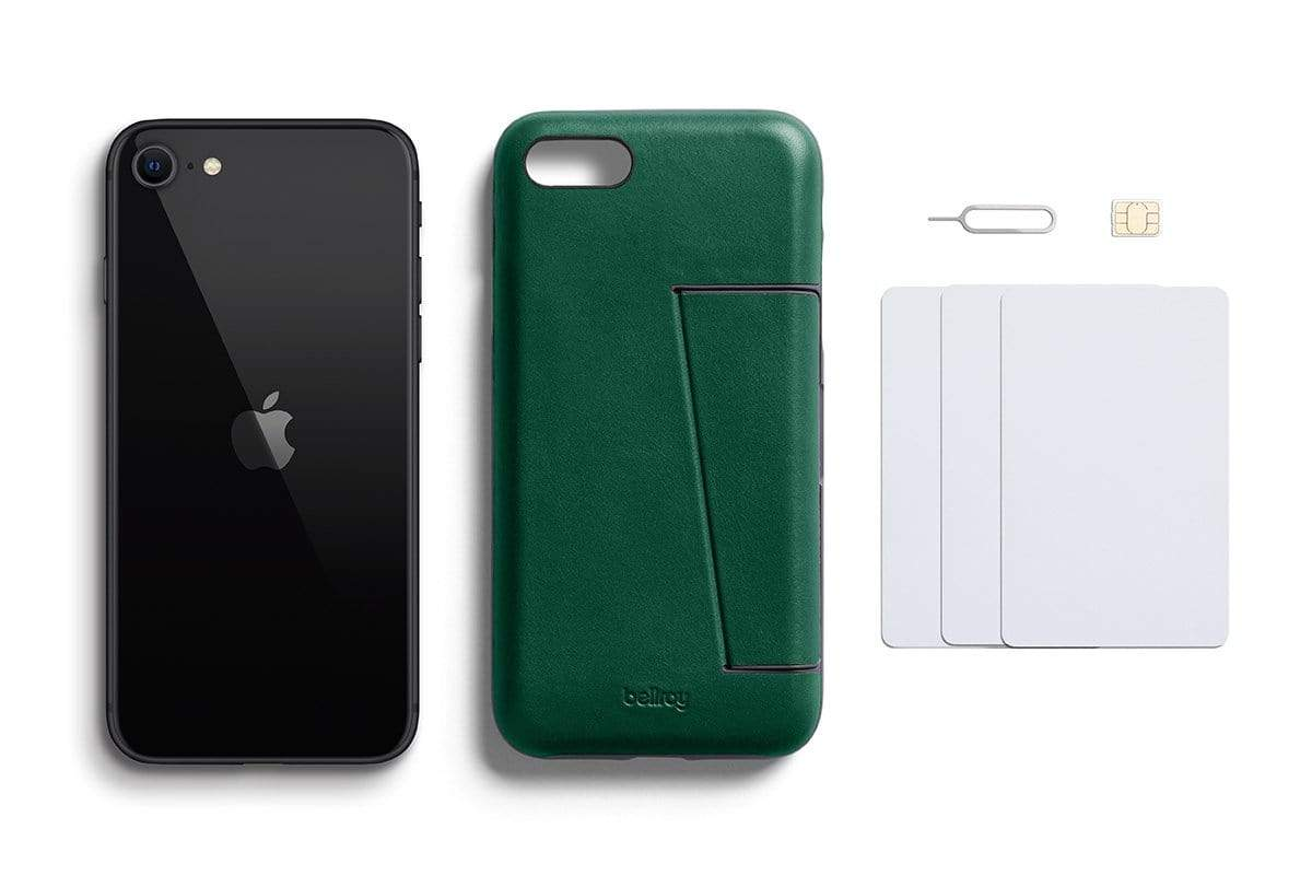 Bellroy Phone Case - 3 card iPhone SE - Racing Green