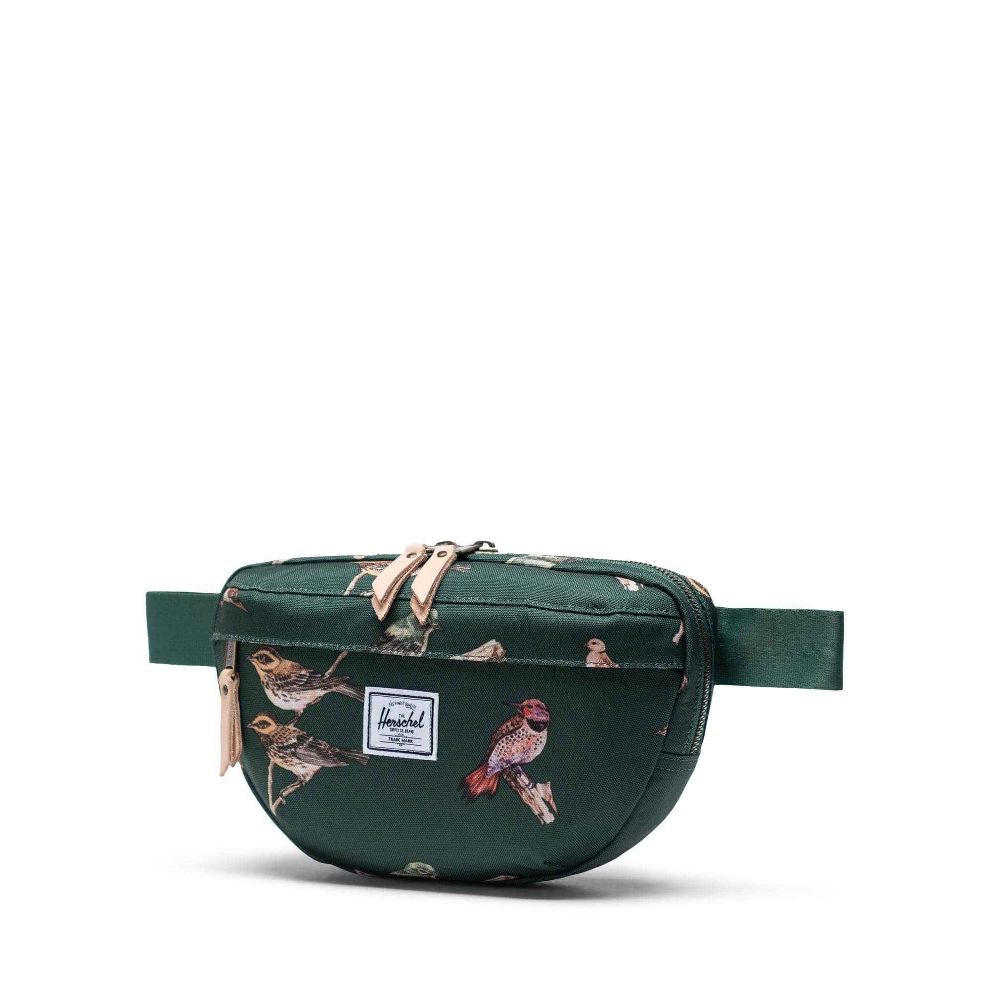 Herschel Nineteen Birds Of Herschel Dark Green Birds övtáska