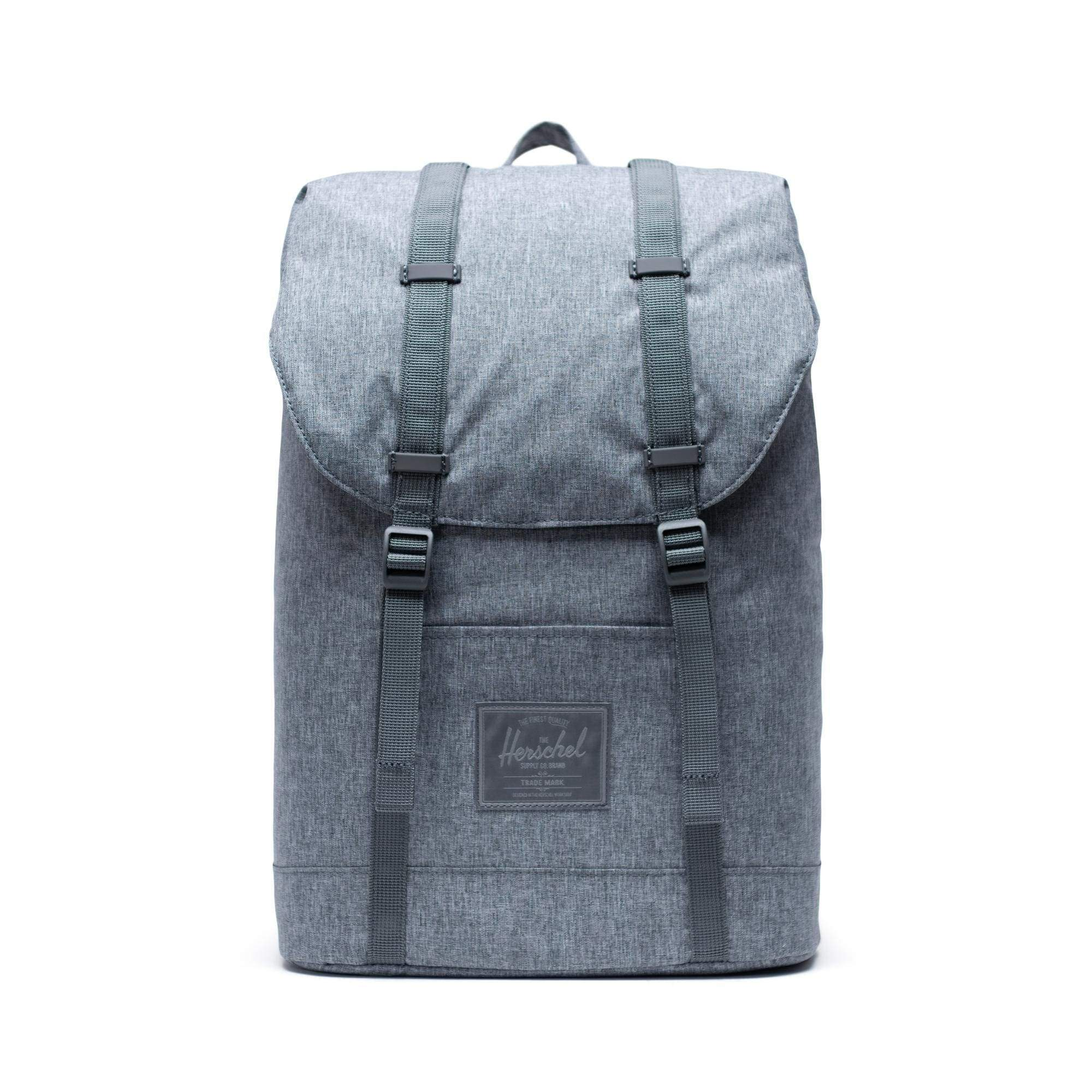 Herschel Retreat Light Raven Crosshatch Hátizsák