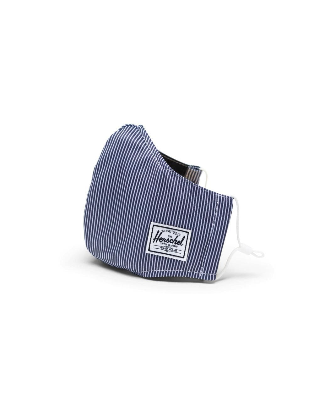 HerschelCLASSIC FITTED FACE MASK Peacoat Engineered Stripe - arcmaszk, szájmaszk