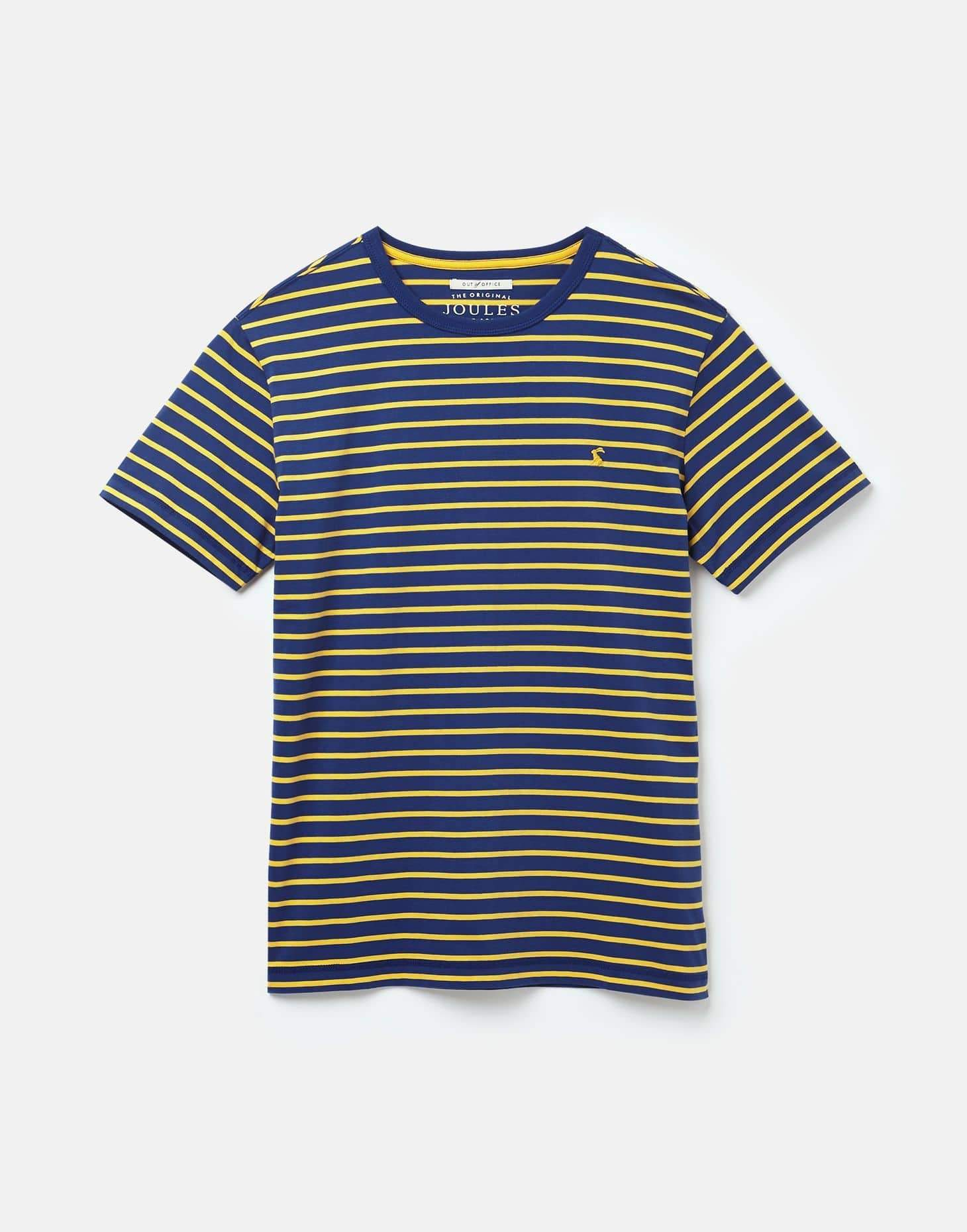 Joules Boathouse Tee Blue Yellow Stripe férfi t-shirt