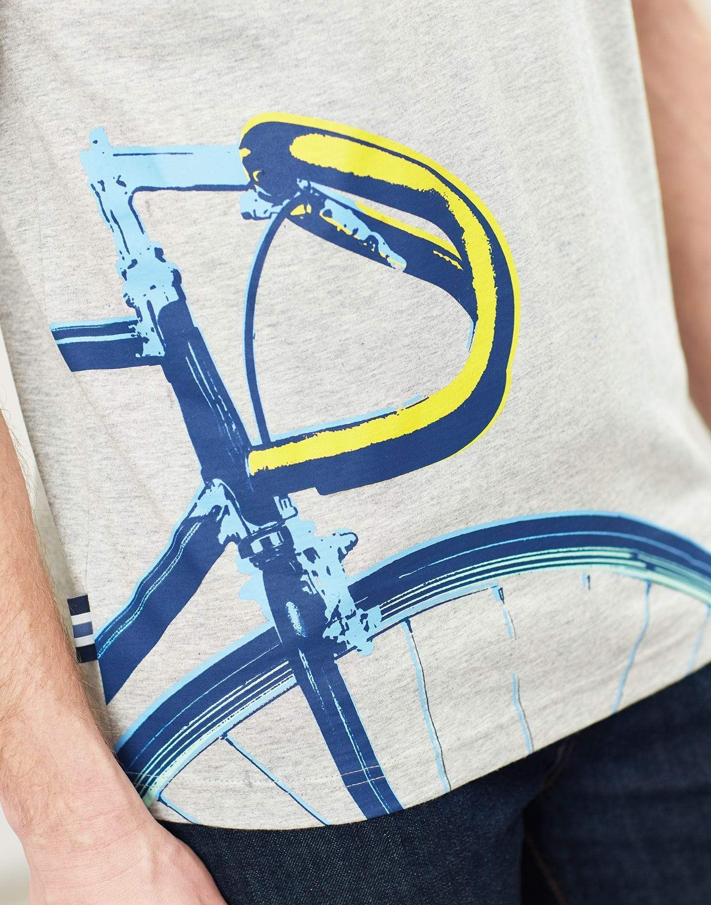 Joules Flynn Grey Bike férfi t-shirt