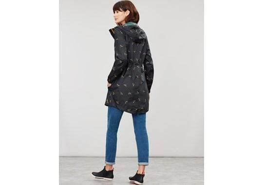 Joules Golightly Black Foil Bee női esőkabát