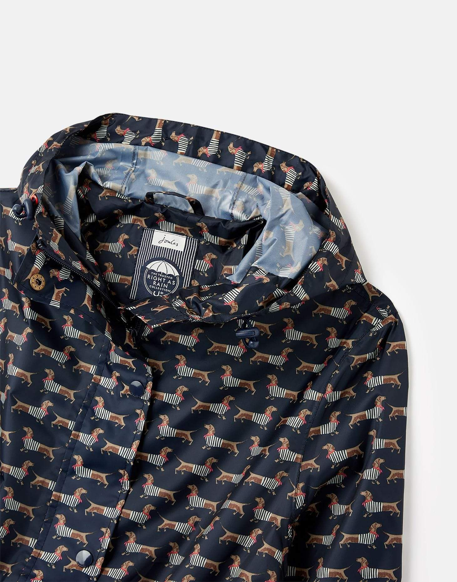 Joules Golightly Navy Sausage Dog női esőkabát