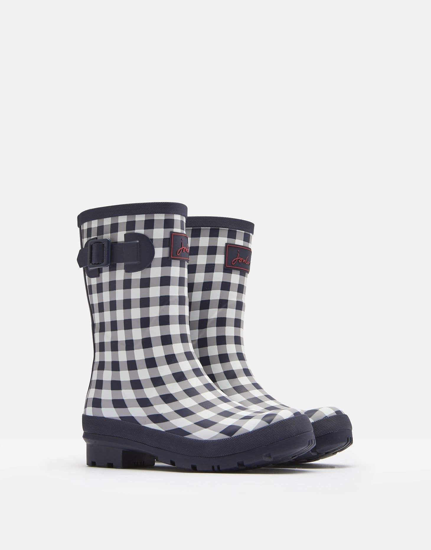 Joules Molly Welly Navy Rose Gingham Női gumicsizma