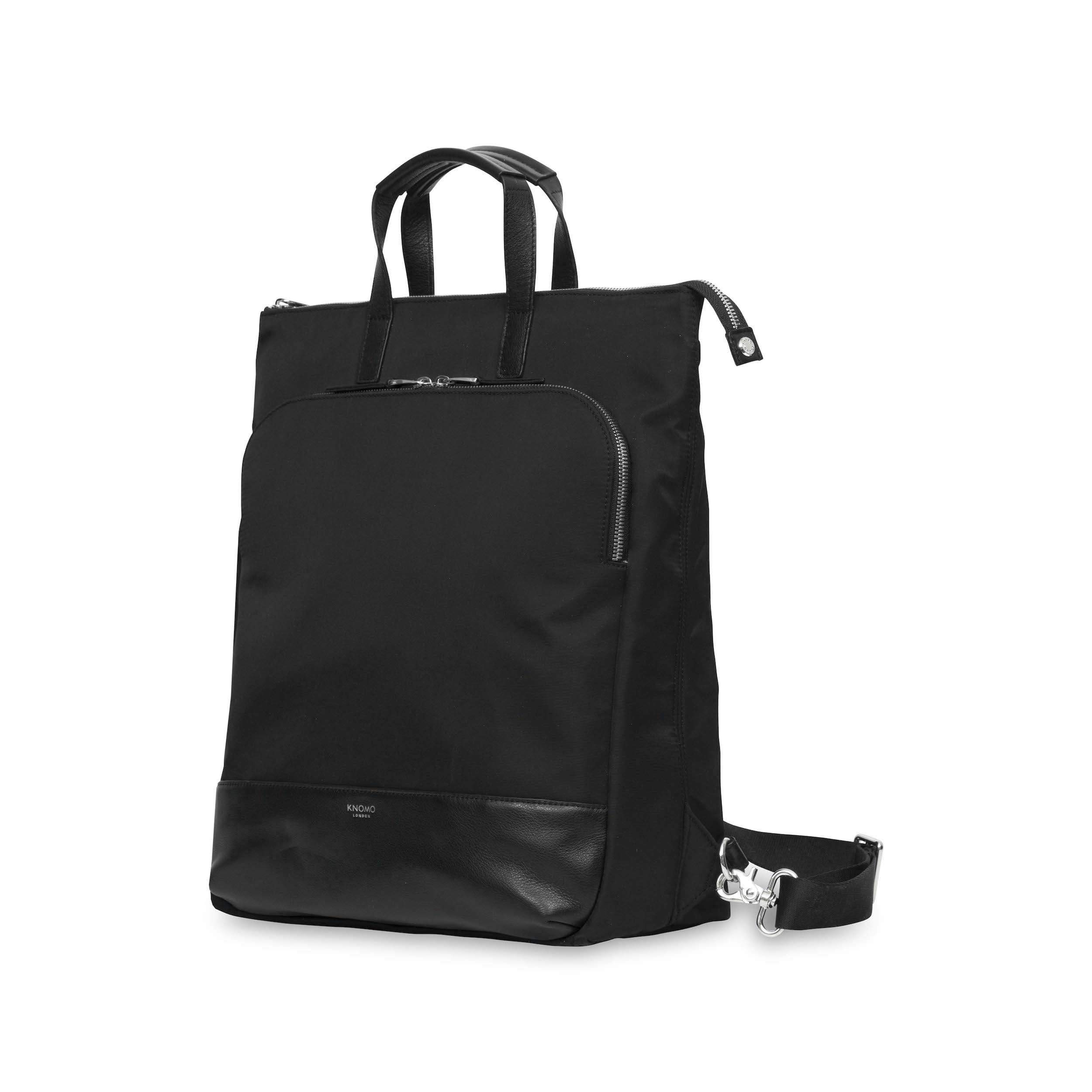 "Knomo Harewood 2.0 15"" Black Tote Backpack"