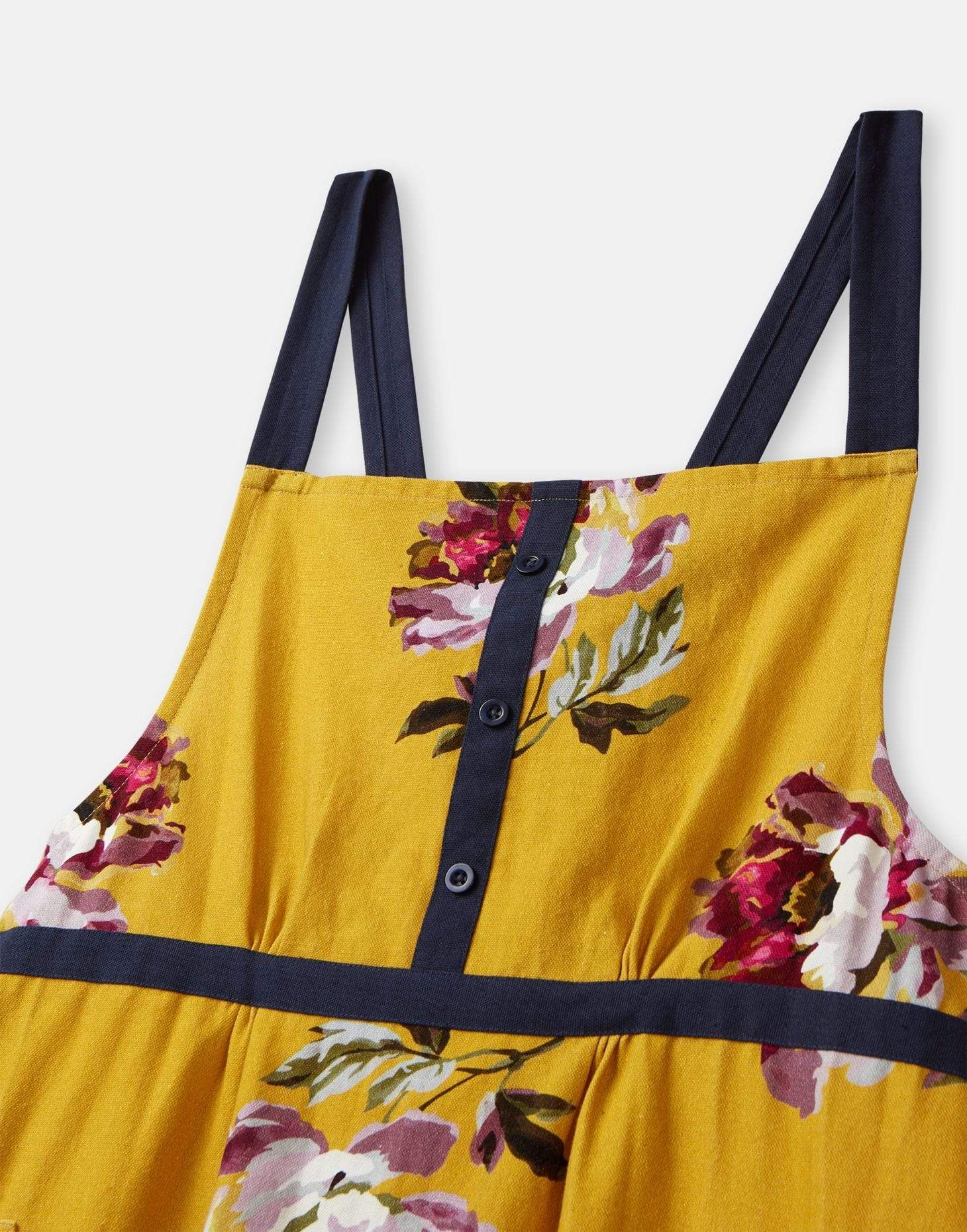 Joules Kitchen Cross Over Apron Gold All Over Floral Home kötény