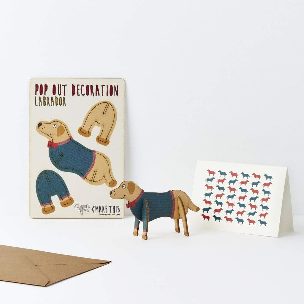 The Pop Out Card Company Üdvözlőkártya - Labrador