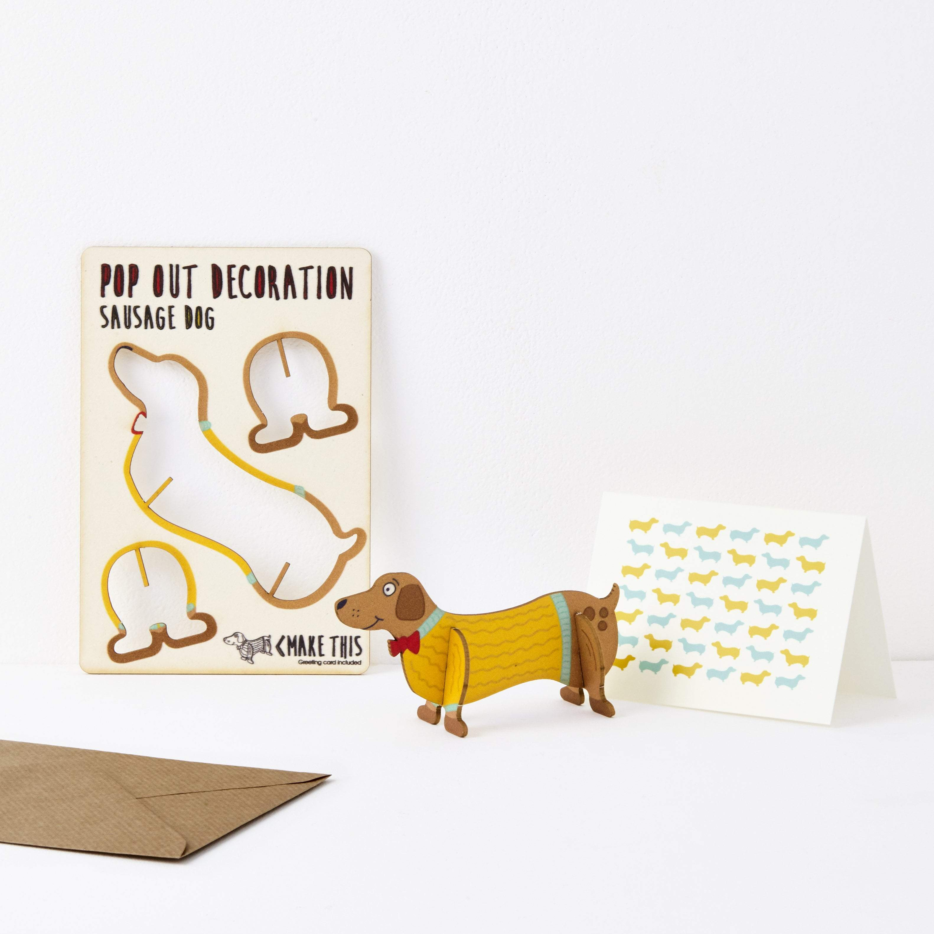 The Pop Out Card Company Üdvözlőkártya - Sausage Dog