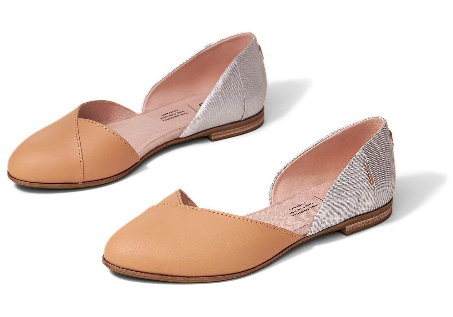 TOMS Julie D Orsay női cipő - Honey Leather Sparkle