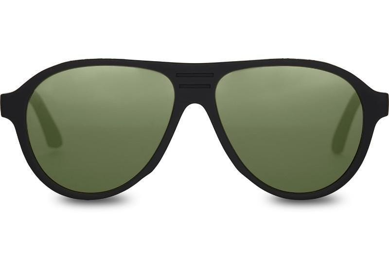 TOMS Traveler Zion Matte Black/Bottle Green Polar unisex Napszemüveg