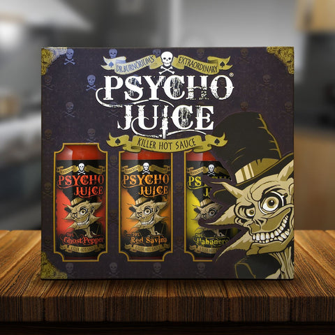 Psycho Juice Hot Sauce Gift Set - Gifts for Him by Urban Gifts