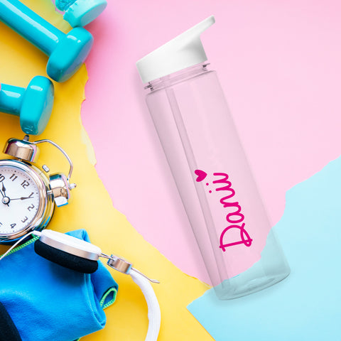 Personalised 800ml Transparent Water Bottle